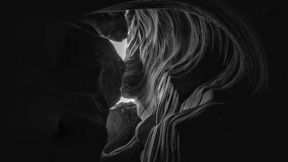 Antelope Canyon black and white photo wallpaper
