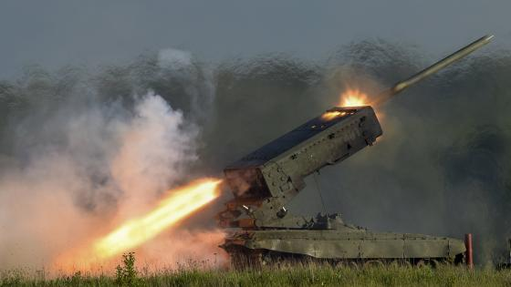 TOS-1A Russian flame thrower wallpaper