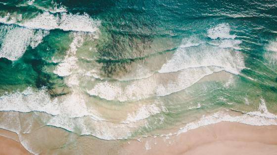 Beach from above wallpaper