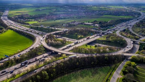 The Lofthouse Interchange in England wallpaper