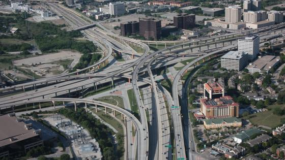 Aerial View of the High Five Interchange wallpaper