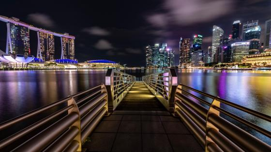 Marina Bay by night wallpaper
