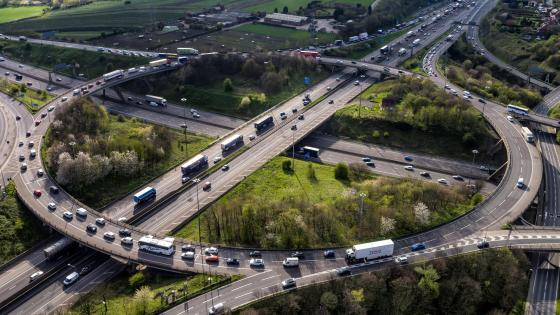 Traffic at the Lofthouse Interchange wallpaper