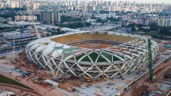 Arena da Amazônia During Construction wallpaper