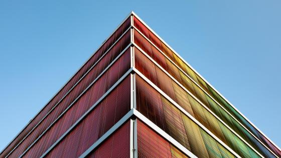 Colorful building wallpaper