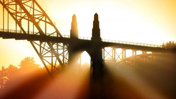 Yaquina Bay Bridge, Newport, Oregon wallpaper