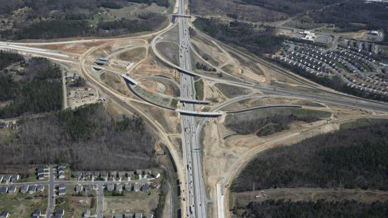 I-85 & I-485 Turbine Interchange in North Carolina wallpaper
