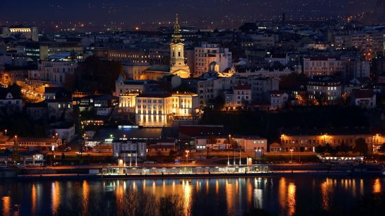 Belgrade by night wallpaper