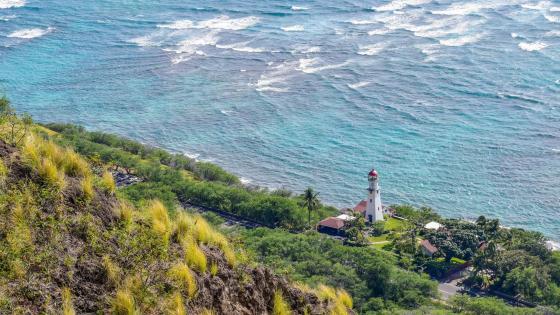 Diamond Head Lighthouse, Honolulu, Hawaii wallpaper