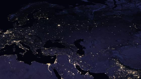 Night Lights of Europe, Western & Central Asia 2016 wallpaper