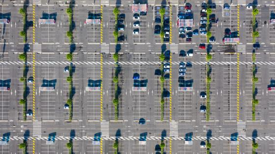 Aerial View of Parking Lot wallpaper
