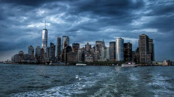 Cloudy New York City wallpaper