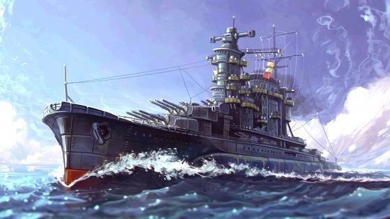 Battleship Digital Art wallpaper