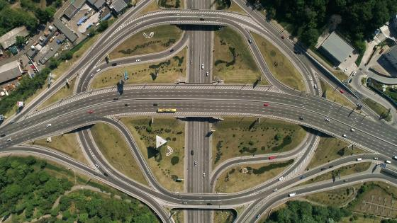 Turbine Interchange in Kyiv wallpaper