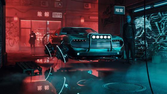 Cyber car wallpaper