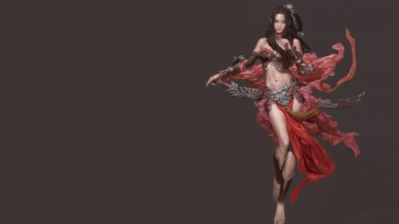 Belly dancer concept art wallpaper