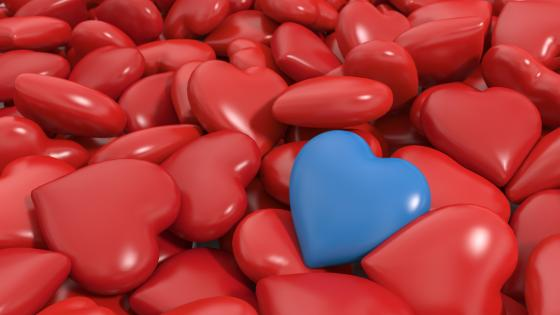 Blue heart wallpaper