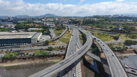 Bridge Over Marginal Tietê in São Paulo wallpaper