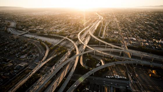 Freeway Interchange in Los Angeles wallpaper