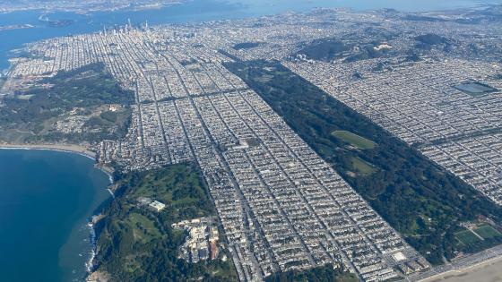 Aerial View of San Francisco wallpaper