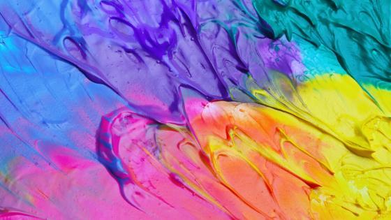 Colorful paint splash wallpaper