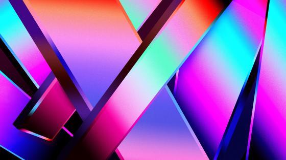 Bright colors 3D wallpaper