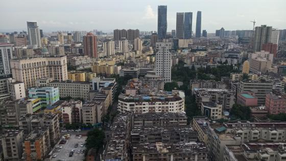 Skyline of Chongren in Kunming wallpaper