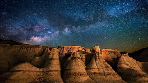 Desert Under The Stars wallpaper