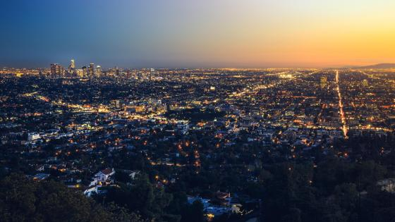 Los Angeles Evening Cityscape wallpaper