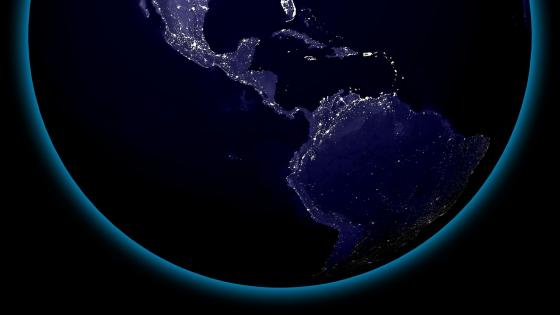 South & Central America's City Lights at Night wallpaper