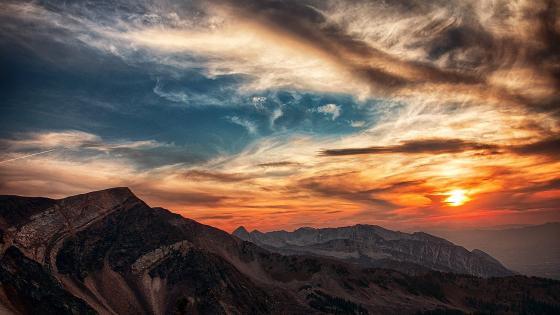 Sunset in Utah Mountains wallpaper