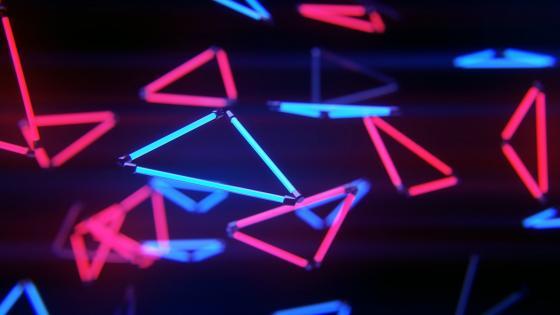 neon triangle wallpaper