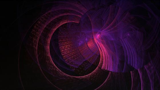 Purple Digital Fractals wallpaper