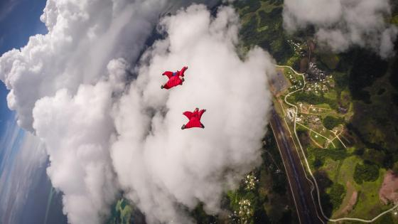 Wingsuit Flying near Los Angeles wallpaper