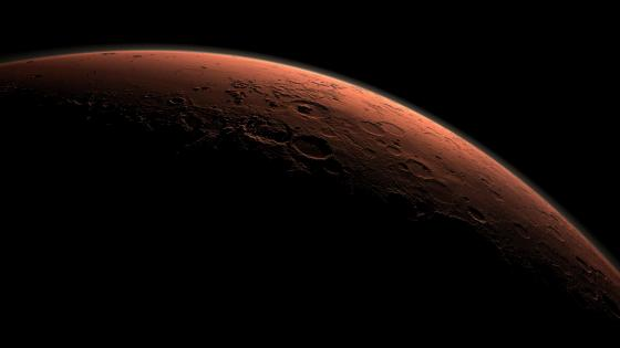 Daybreak at Gale Crater wallpaper