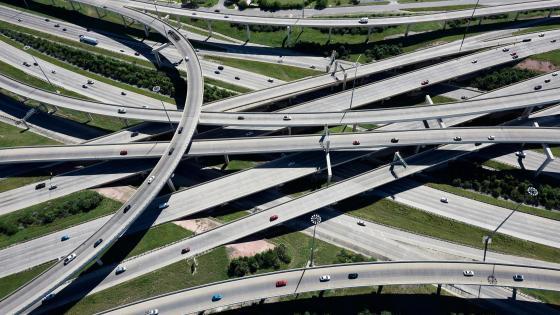 Highway Interchange in San Antonio, Texas wallpaper