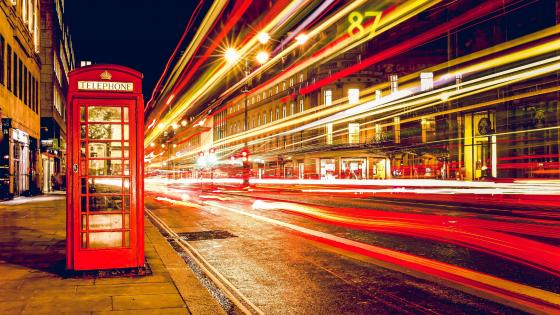 Red Telephone Booth wallpaper