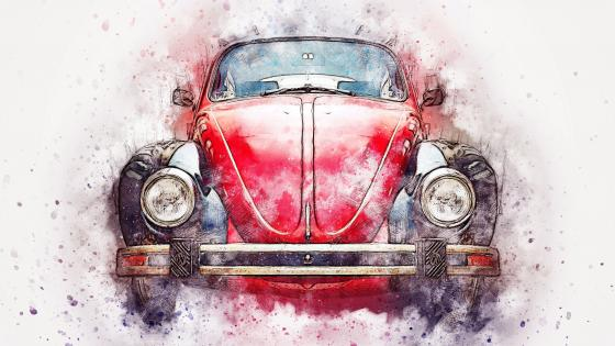 Volkswagen Beetle Artwork wallpaper