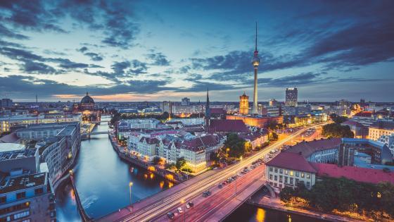 Berlin cityscape wallpaper