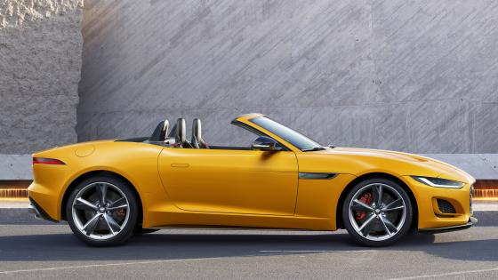 Yellow Jaguar  F-Type R wallpaper
