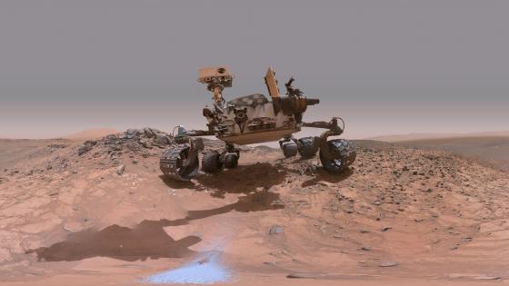 Curiosity on Mars wallpaper