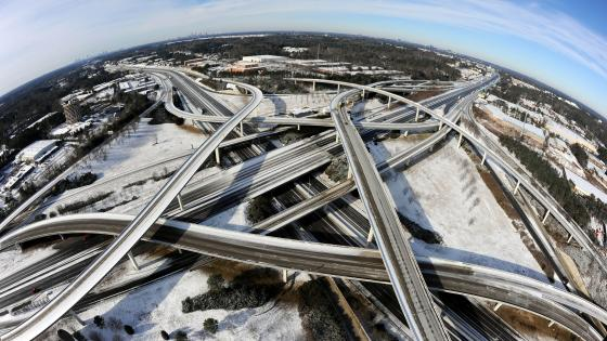 Interchange in Atlanta After a Winter Storm wallpaper
