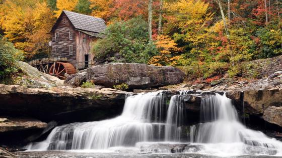 Glade Creek Grist Mill, Babcock State Park wallpaper