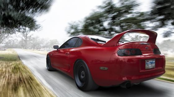 Toyota Supra MK4 (RED COLOUR) wallpaper