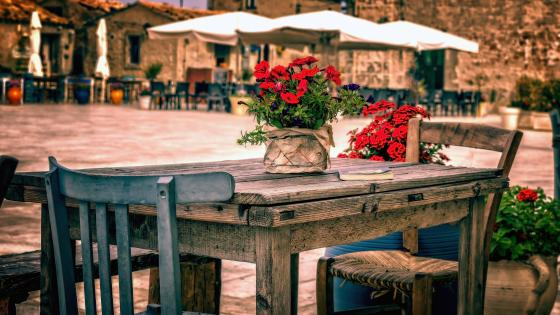 Table In The Town Square wallpaper
