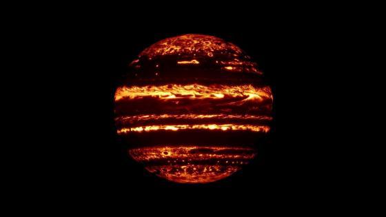 Infrared Jupiter wallpaper