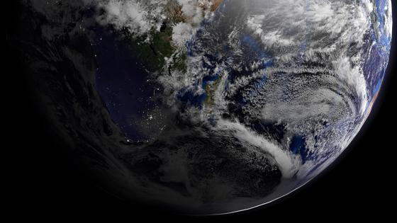 Night & Day over Africa during the Southern Hemisphere's Winter wallpaper