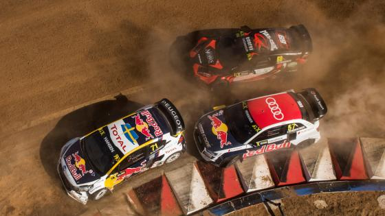 Niclas Grönholm, Kevin Hansen & Toomas Heikkinen at the 2017 World RX of South Africa wallpaper