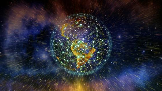Network Earth wallpaper