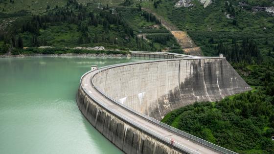 Dam of the Kops Reservoir wallpaper